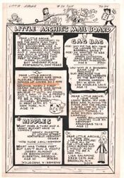 Little Archie 54 P.34 - Mail Board Letters Page - 1969 Art By Bob Bolling