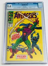 Avengers 52 Cgc 9.4 White Pages 1st Appearance Grim Reaper - Black Panther Joins