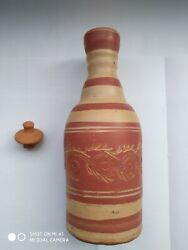 Ceylon Handmade Eco Friendly Self Cool Collectible Clay Drinking Water Bottle