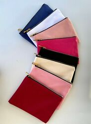 Lot of 7 Plain Cosmetic Bags with Zipper $20.00