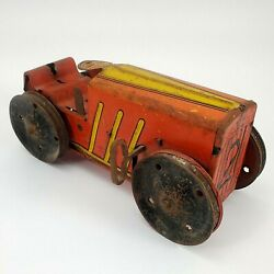 Vintage Toys Tin Litho Marx Wind-up Red No.2 Tractor Restoration Project