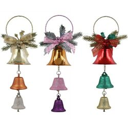 Christmas Bells Hanging Tree Ornaments Baubles Decorations For Garden And Home
