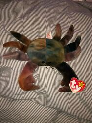 Ty Original And Extremely Rare Beanie Baby Claude The Crab 1996. Mint And Retired