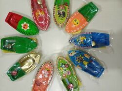 Put Put Steam Boat Pop India Toy Kids Recycled Tin Hand Painted/assembled 50 Pcs