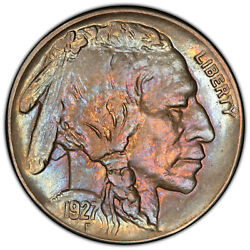 1927-s Buffalo Nickel Pcgs Graded Cleaned Unc Detail 41070051