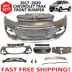 2017 2018 2019 2020 Front Bumper Cover Upper / Lower Chevy Trax Complete Grills