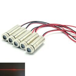 5pcs Focusable 650nm 30mw 1230 Red Line Beam Laser Diode Moudle W Driver In