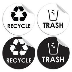 Hot Garbage Symbol To Containers Walls Sticker Recycle And Trash Home Decor