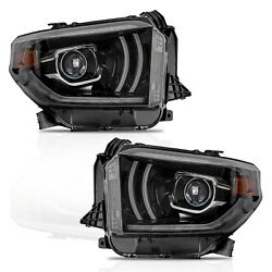 Vland Modded Led Headlights W/drl Sequential Turn Signal For 2014-2020 Tundra