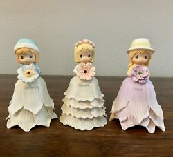 Precious Moments Monthly Flower Girl January, February, March Snowdrop Mini Bell