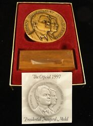 2.75 Inch Official 2nd Inauguration Medal - 7-20-1997 Bill Clinton And Al Gore