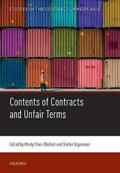 Contents Of Contracts And Unfair Terms By Mindy Chen-wishart English Hardcover
