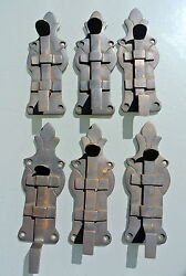 6 Small Bolts French Old Antique Style Door Furniture Heavy Brass Flush 4.1/2 B