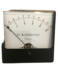 Simpson Model 1327 T Analog Panel Meter 0-10 Dc Microamperes Taut Band, New