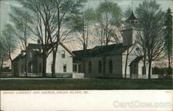 Indian Islandme Indian Convent And Church Penobscot County Maine Postcard