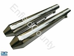 For Royal Enfield Powerage Exhaust Silencer Polished For Gt Continental 650 Ecs