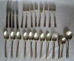 Vintage International Revelation Silverplate Flatware - 31 Pieces With Meat Fork