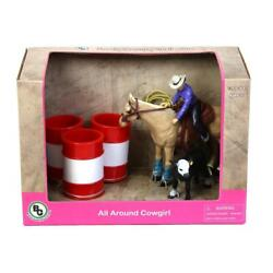 1/20 All Around Cowgirl Rodeo Western Roping Set By Big Country Toys 411