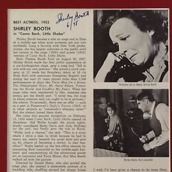 Shirley Booth Signed 1952 Best Actress Come Back Little Sheba Lancaster Matted