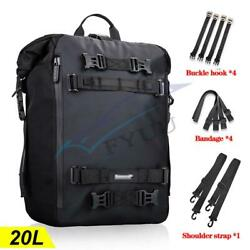 20l Pvc Multiple Purpose Motorcycle Atv Rear Seat Bag Protection Bar Backpack X1