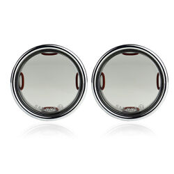 2x Turn Signal Light Smoke Lens Covers Bezel For Touring Road Electra Glide