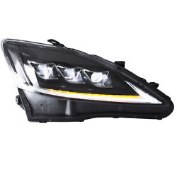 Clear Sidereflector Full Led Headlights For 06-12 Lexus Is F Assembly