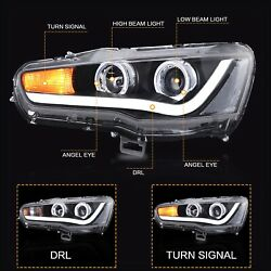 Vland Modded Led Headlights With Drl Dual Beam For 2008-2017 Mitsubishi Lancer