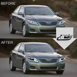 Vland Modded Led Headlights With Drl Sequential Turn Sig. For 10-11 Toyota Camry