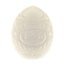 Vintage 1979 Satin Glass Egg With Motif Design By Goebel Made In Germany