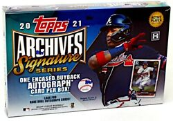 2021 Topps Archives Signature Series Baseball 20 Box Case Blowout Cards