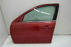 2006-12 Ford Fusion Driver Front Left Door With Side Moulding Holes Red