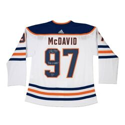 Connor Mcdavid Signed Autographed Jersey Inscribed 2016-17 Hart Oilers /97 Uda