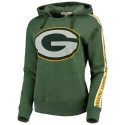 Junk Food Womens Nfl Green Bay Packers Sunday Liberty Hoodie New