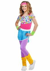 Girl#x27;s Work It Out 80s Costume