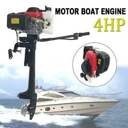 Heavy Duty 4 Stroke 4hp Outboard Motor Boat Engine W/air Cooling System U.s.a
