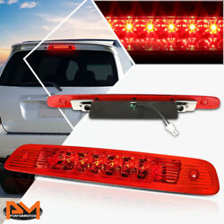 For 01-03 Highlander Dual Rows Led Third 3rd Tail Brake Light Stop Lamp Red Lens