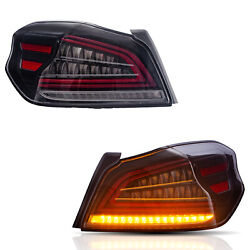 For 2015-2019 Subaru Wrx/sti Clear Led Tail Lights Assembly W/ Sequential Turn