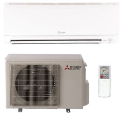 Mitsubishi 18,000 Btu Ductless Split System Ac Seer 20.5 Cool And Heat Energy Star