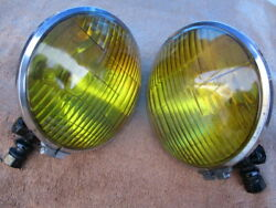 1918-1920and039s Kd 6 Inch Square Rim Fog Lights