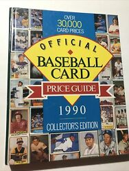 1990 Official Baseball Card Price Guide Collectorandrsquos Edition 30k Card Prices