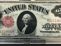 1917 1.00 One Dollar Legal Tender Red Seal Note Gorgeous Note