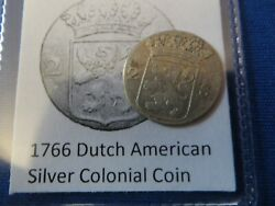 1766 Silver Early American Colonial Coin Before Us Minted Coins Free Shipping
