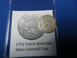 1751 Silver Early American Colonial Coin Before Us Minted Coins Free Shipping