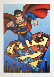 Dc Lithograph Entitled Superman The Reign Of Supermen Signed