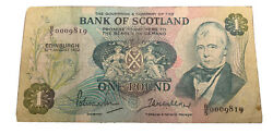 1970 Scotland 1 Pound - Bank Of Scotland - Sold As Is. See Pictures.