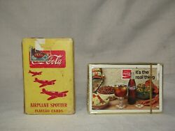 1943's Coca-cola Airplane Spotter And 1971 Its The Real Thing Playing Cards