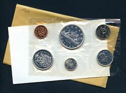 1966 Canada Proof Like 6 Coin Mint Set Sealed 1.1 Oz Silver