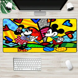 New Romero Britto Mickey Mouse Mouse Pad Laptop Mat Large Size Mousepad 80x30cm