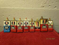 Large Lot Of Vintage 3 In 1 Oil Cans Prop Display Tin Can Advertising