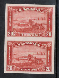 Canada 175a Extra Fine Never Hinged Imperf Pair With Certificate